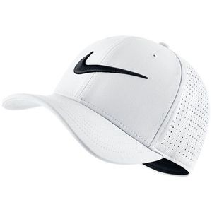 White Nike Dri-Fit Swoosh Flex Cap